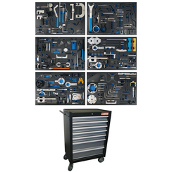Workshop Trolley  7 Drawers  Engine Timing Tool Sets