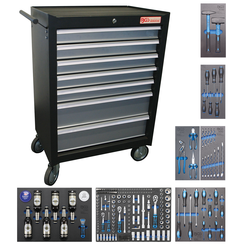 Workshop Trolley  7 Drawers  with 227 Tools