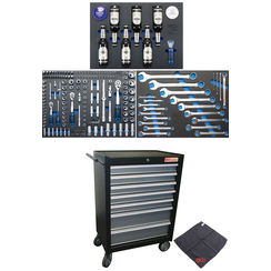 Workshop Trolley  7 Drawers  with 215 Tools