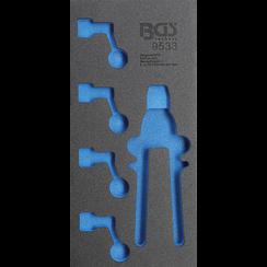 Gereedschapmodule 1/3  leeg  voor BGS 9533