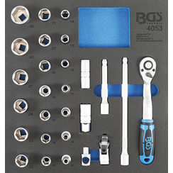 "Tool Tray 2/3: Socket Set 12.5 mm (1/2 "")  27 pcs."