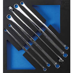 Tool Tray 2/3: Double Ring Spanner Set  10 x 11 - 22 x 24 mm  6 pcs.