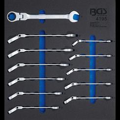 Gereedschapmodule 2/3: ratel ring-steeksleutel  knie  8 - 19 mm  12-dlg