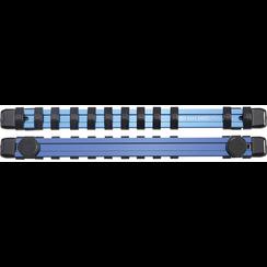 """Opsteekrail voor 12 dopsleutels  magnetisch  voor 6,3 mm (1/4"""")"""