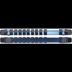 """Opsteekrail voor 12 dopsleutels  magnetisch  voor 12,5 mm (1/2"""")"""