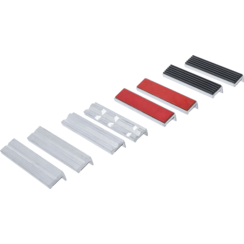 Bench Vice Jaw Protector Set  Aluminium  125 mm  8 pcs.