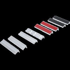 Bench Vice Jaw Protector Set  Aluminium  150 mm  8 pcs.