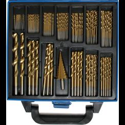 Twist & Step Drill Set  HSS  titanium nitrated  1 - 10 mm  119 pcs.