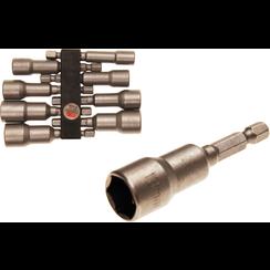 """Dopsleutelset zeskant  6,3 mm (1/4"""") aandrijving zeskant  6 - 13 mm  8-dlg"""