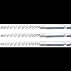 """Borstelschijf  8 mm  6,3 mm (1/4"""")  3-dlg"""
