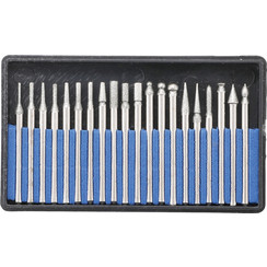 Diamond-Coated Grinding and Milling Drill Bit Set  20 pcs.