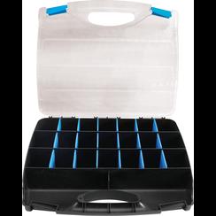 Vakjeskoffer kunststof voor kleine onderdelen