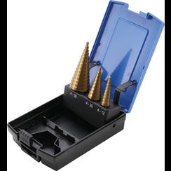Step Drill Set  titanium-nitrided  Ø 4 - 30 mm  3 pcs.