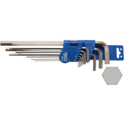 Speciale stiftsleutelset  inbus 1,5 - 10 mm  9-dlg