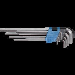 Stiftsleutelset  extra lang  inbus 1,5 - 10 mm  9-dlg
