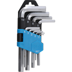L-Type Wrench Set  short  internal Hexagon 1.5 - 10 mm  9 pcs.