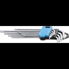 Stiftsleutelset  extra lang Torx T10 - T50  9-dlg
