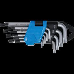 Stiftsleutelset  kort Torx met boring T10 - T50  9-dlg