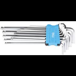 L-Type Wrench Set  extra long  internal Hexagon / internal Hexagon with Ball Head 1.5 - 10 mm  13 pcs.