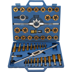 Tap and Die Set  Tin-Coated  M6 - M24  45-tlg.