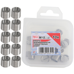 Replacement Thread Inserts  M12 x 1.0 mm  10 pcs.