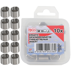 Replacement Thread Inserts  M16 x 1.5 mm  5 pcs.