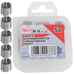 Replacement Thread Inserts  M18 x 1.5 mm  5 pcs.