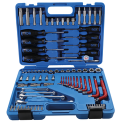 """Tool Set  6.3 mm (1/4"""") + 12.5 mm (1/2"""")  E-Type / T-Star (for Torx)  84 pcs."""