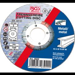 Cutting Disc for Metal  Ø 115 x 2.5 x 22.2 mm  Type 42