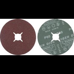 Fiber-schuurschijfset  korrel 60  aluminiumoxide  10-dlg