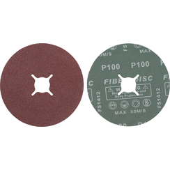 Fiber-schuurschijfset  korrel 100  aluminiumoxide  10-dlg