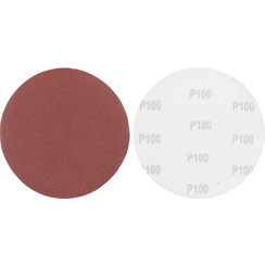 Schuurschijfset  voor langshalsschuurmachine  korrel 100  aluminiumoxide  10-dlg