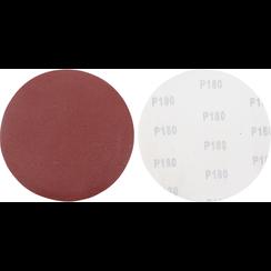 Schuurschijfset  voor langshalsschuurmachine  korrel 180  aluminiumoxide  10-dlg
