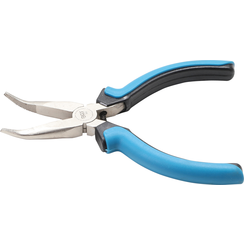 Electronic Long Nose Pliers  bent  spring loaded  125 mm
