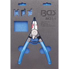 Circlip Pliers  for external / internal Circlips  Exchangeable Tips  180 mm