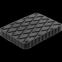 Rubberen pad  voor hefplatforms  160 x 120 x 20 mm