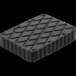 Rubberen pad  voor hefplatforms  160 x 120 x 30 mm