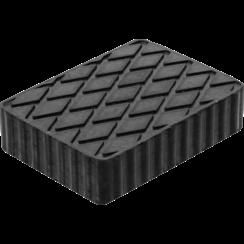 Rubberen pad  voor hefplatforms  160 x 120 x 40 mm