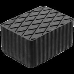 Rubberen pad  voor hefplatforms  160 x 120 x 80 mm