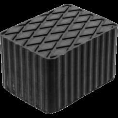 Rubberen pad  voor hefplatforms  160 x 120 x 100 mm