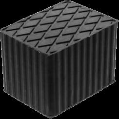 Rubberen pad  voor hefplatforms  160 x 120 x 115 mm