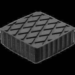 Rubberen pad  voor hefplatforms  116,5 x 116,5 x 36,5 mm