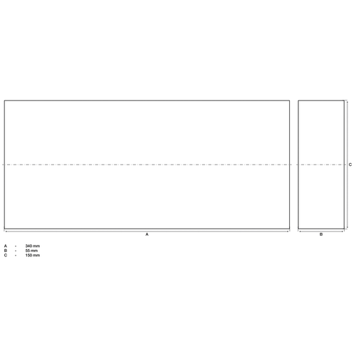 BGS  Technic Beschermingsblok  voor hefplatforms  340 x 150 x 55 mm
