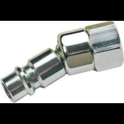 """Lucht insteeknippel met kogelkop  6,3 mm (1/4"""") binnendraad"""