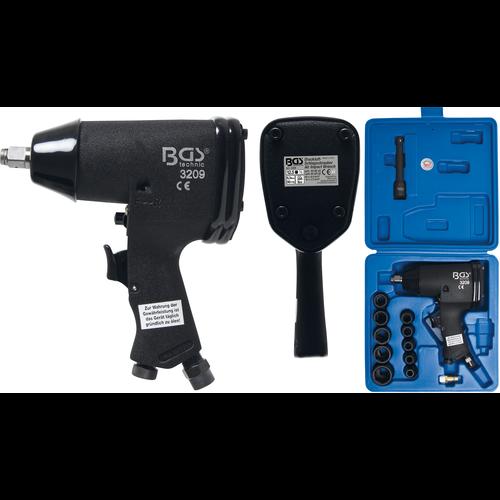 "BGS  Technic Air Impact Wrench Kit  12.5 mm (1/2"")  366 Nm  16 pcs."