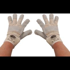Werkhandschoenen  leder, gevoerd  maat 10,5
