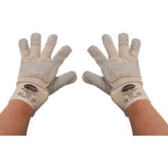 Work Gloves  Leather, lined  Size 10.5