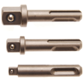 "BGS  Technic Adapterset  SDS - buitenvierkant 6,3 mm (1/4""), 10 mm (3/8""), 12,5 mm (1/2"")  3-dlg"