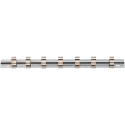 """Socket Rail with 7 Clips  6.3 mm (1/4"""")"""