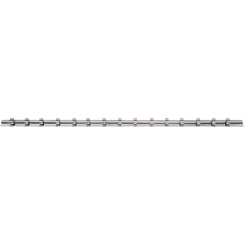 """Socket Rail with 15 Clips  6.3 mm (1/4"""")"""